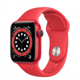 Apple Watch Series 6 40mm (PRODUCT)RED com Bracelete desportiva (PRODUCT) RED